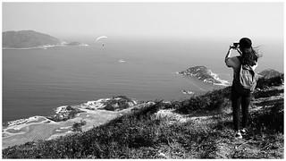龍脊看石澳   View of Shek O from Dragon's Back