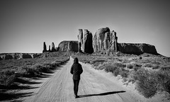 I Walk Alone (Anna Kwa) Tags: oljato–monumentvalley monumentvalley 17miles scenicroad navajotribalpark iconic sacred sandstones buttes mesas utah usa annakwa nikon d750 2401200mmf40 my walk alone always unknown perception seeing heart soul throughmylens omm destiny journey life fate lostwithoutyou freyaridings perspective world travel path