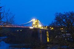6191 Pont Grog y Borth. (Andy - Busyyyyyyyyy) Tags: bbb bluehour bridge ccc cymru lights menaibridge menaistraits menaisuspensionbridge mmm nightshot nnn northwales pontgrogyborth sss wales www