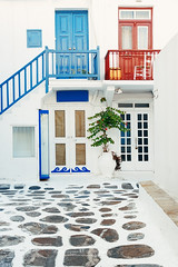 Mykonos street (BestCityscape) Tags: mykonos greece architecture city europe vacation travel greek mediterranean aegean island sea tourism landscape village building destination holiday outdoor mikonos cityscape street restaurant shop bar