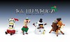 REJECTZ Series 4 - Holiday edition! (Ochre Jelly) Tags: lego moc afol character rejectz holiday christmas xmas santa elf snowman rudolph reindeer festive