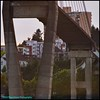 Life on the Other Side (Beachhead Photography) Tags: beachheadphotography bridge skybridge skytrain buildings apartments condos trees church lights cement concrete newwestminster outdoors fraserriver