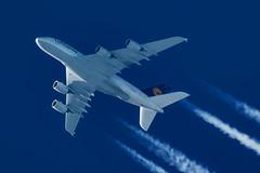 Lufthansa Airbus A380-841 D-AIMJ (Thames Air) Tags: lufthansa airbus a380841 daimj contrails telescope dobsonian overhead vapour trail