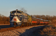 "Westbound Passenger Special in Decatur, IL (""Righteous"" Grant G.) Tags: wabash cn canadian national railway railroad locomotive emd f unit santa express passenger special west westbound ns norfolk southern"