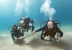16dec13a (KnyazevDA) Tags: disability diver diving disabled handicapped underwater redsea hanukkah hanukah menorah lights candles israel eilat etgarim cmas amputee paraplegia paraplegic