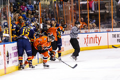 "Kansas City Mavericks vs. Colorado Eagles, December 16, 2017, Silverstein Eye Centers Arena, Independence, Missouri.  Photo: © John Howe / Howe Creative Photography, all rights reserved 2017. • <a style=""font-size:0.8em;"" href=""http://www.flickr.com/photos/134016632@N02/39138141211/"" target=""_blank"">View on Flickr</a>"