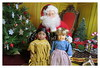 10. Portrait with Santa - Kaya & Kirsten (Foxy Belle) Tags: american girl mini christmas doll historic diorama 16 scale miniature ag santa claus scene barbie theater playscale tree chair red velvet