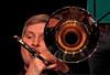 Bart de Lausnay (tb basse), Jazz Station Big Band, Centre culturel d'Ans-Alleur, vendredi 03/11/2017. (claude lina) Tags: claudelina belgium belgique belgïe musique musicien concert jazz ans alleur centrecultureldalleur bigband jazzstationbigband instruments trombone bartdelausnay