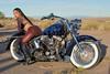 Marissa Lopez (D Allen Johnson Photography) Tags: unitedstates newmexico model outdoor motor cycle long hair custom harley davidson desert motorcycle female