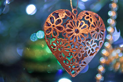 Christmas Heart (christina.marsh25) Tags: memberschoicebokeh macromondays macro heart christmastreedecoration ornament bokeh