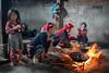 Three Cooks and a Little Helper (YT Blue) Tags: vietnam nikon d850 sapa cooking home fire