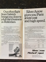 British Island Airways timetable pages, 1977 (gordon.bevan@xtra.co.nz) Tags: silverarrowservice herald bia