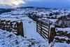 Close the gate behind you (peterwilson71) Tags: snow village view gate open wall stones sunlight sky storm burnsall yorkshire