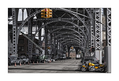 Yellow (Nico Geerlings) Tags: ngimages nicogeerlings nicogeerlingsphotography newyorkcity nyc ny usa harlem manhattanville manhattan riversidedrive viaduct motorcycle arches architecture