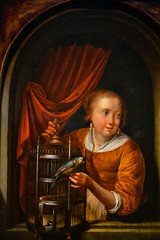 Gerrit Dou - Woman with a Parrot, 1665 (Leiden Collection New York) at Vermeer and the Masters Exhibit at National Gallery of Art - Washington DC (mbell1975) Tags: washington districtofcolumbia unitedstates us gerrit dou woman with parrot 1665 leiden collection new york vermeer masters exhibit national gallery art dc nga museum museo musée musee muzeum museu musum müze museet finearts fine arts gallerie beauxarts beaux galleria painting dutch flemish golden age grand
