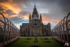 l'église Notre Dame de Calais (Fabien Legagneur) Tags: 2017 architecture calais notredame église panasonic lumixtz100 lumix tz100 jardin bâtiment mur ciel tour pelouse church