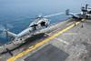171229-N-ZS023-046 (U.S. Pacific Fleet) Tags: ussamerica lha6 amphibiousassaultship sailors people usnavy usmc marines cpr3 comphibron3 commanderamphibioussquadron 15thmeu marineexpeditionaryunit arg aarg amaarg ama americaarg amphibiousreadygroup deployment 5thfleet areaofoperations aoo helicopter air flight flightops flightdeck liftoff mh60sseahawk seahawk hsc hsc23 helicopterseacombatsquadron23 javasea