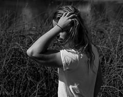 (Wendy Lu.) Tags: wendylu canon5d maleportrait vancouver vanier vanierpark longhair nature sculpture art tallgrass monochrome blackandwhite bw