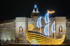 Sailing through winter (utak3r) Tags: poland polska sony stettin szczecin a6000 light lights night nightphotography nightshot winter zima wałychrobrego województwozachodniopomorskie pl