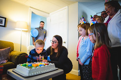 blowing out candles (adammcguffie) Tags: birthday kidbirthday kid three party birthdayparty birthdaycake cake candle candles blowingout fire blowoutcandles dessert child family 2017 friends americana america eastcoast maryland baltimore happiness joy home