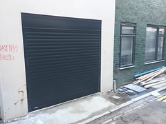 SWS classic roller door in anthracite.