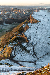 White Edinburgh (Fading Dusk Photography) Tags: edinburgh edinburghcastle snow snowylandscape snowscape oldtown newtown holyroodpark holyrood arthursseat sigma1750mmf28 cityscape uk scotland scottishcastle kyoshimasamune salisburycrags sunset goldenhour