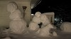 Family reunion (evakongshavn) Tags: blahblahscape snowman snowfamily family snow snowdog snowy snowcovered snowing snowyday snowfall hiver neige winter lotsofsnow words nightshot nightscape night cold mrfrost frozen frost covered playing leisure