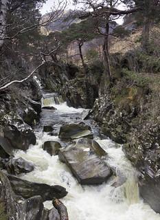 Water of Nevis, Glen Nevis, near Fort William, Lochaber, Highland, Scotland, UK