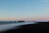 Not working? (Daniel Moreira) Tags: reynisfjara beach vík basalt columns snow mountains sea sunrise iceland icelandic ísland islândia islande islanda dyrhólaey peninsula promontory moon