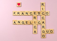 family game (brescia, italy) (bloodybee) Tags: family scrabble tiles game play letters alphabet heart love stilllife wooden lilac