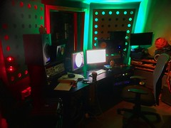 Dimly Lit (Pennan_Brae) Tags: musicroom music musicproduction musicproducer recordingsession studiolife recording recordingstudio lighting mood musicstudio