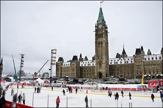 Public Skating on  Parliament Hill
