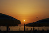 Volare, nel blu dipinto di rosso (versus763) Tags: tramonto sunshine sea mare beach spiaggia licinella aereo airplane beachumbrella ombrellone