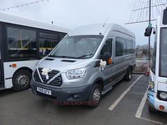 YK16 UFV, Ford, Richards, P1130716 (LesD's pics) Tags: bus coach richardsbros yk16ufv fordtransit