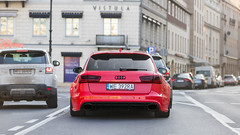 Absolutely Barbaric (MKSpots) Tags: audi rs6 warsaw poland performance c7 polska three crosses square lowered slammed