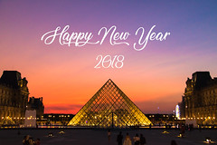Happy New Year 2018 (Cloudwhisperer67) Tags: happy new year 2018 bonne année raphaël wish wishes best wonderful merry fest great amazing superbe an cloudwhisperer67 paris louvre pyramide pyramid golden france light lit night by dawn aurore canon 760d have happynewyear2018 happyneweve happynew happynewyear photography photo joyful love lovely sky ciel blue violet yellow orange colors color colorful sunset sunrise city cityscape