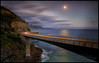 The Rising (Jo Langtry) Tags: 2018 aprils bridge canon5div cartrails coast jan01 jan2018 le leanneo moon mountains night nisifilters nsw seacliffbridge sigma2470f28dgoshsmart
