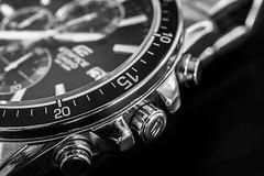 Time. (Suggsy69) Tags: nikon d5200 watch time casio ediface blackwhite bw blackandwhite monochrome mono numbers random