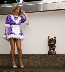 IMG_1111 (chantal_fouet) Tags: tv cd tg stockings nylon satin sissy maid outdoor