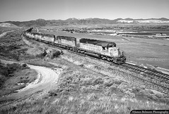 Point of the Mountain (jamesbelmont) Tags: unionpacific pointofthemountain lapc provosubdivision saltlakecounty draper bluffdale oquirrhmountains sd402 emd utahstateprison binghamcanyoncoppermine railway