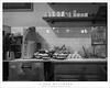 Restaurant Counter (G Dan Mitchell) Tags: chez maman restaurant bistro sanfrancisco california usa north america hayes valley counter kitchen bread cups flour street blackandwhite monochrome