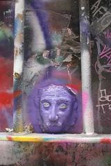 DSC08814 (washuugenius) Tags: photo australia melbourne hosierlane graffiti streetart art sculpture einstein purple whatever