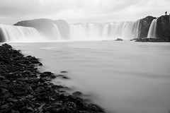 Goðafoss (desomnis) Tags: iceland island waterfall monochrome blackandwhite blackwhite longexposure le canon5dmarkiv canon canon5d desomnis travelinglandscape travel travelphotography water goðafoss godafoss