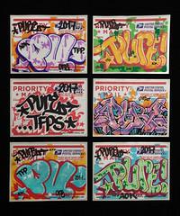 Pure (Alex Ellison) Tags: pure sticker usps prioritymail label 228 postallabel newyork usa nyc collection urban graffiti graff boobs
