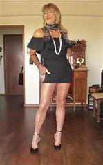 Karen (Karen Maris) Tags: tg tgirl tgurl karen trannie tranny legs transsexual transvestite transgender pantyhose tights sheer heels higheels blonde crossdress crossdresser