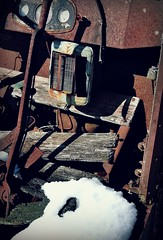 Brr.. it's cold outside ❄️ (Dave* Seven One) Tags: abandoned forgotten rusty rust rot rotted decay truck heater noheat heat broken used junk scrapmetal scrap freezing temperature f°