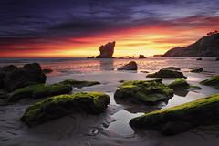 Great Flickr moments (Anto Camacho) Tags: landscape sunset rocks asturias flickr longexposure sky colours clouds beach sunshine bigstopper