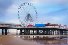 Central Pier, Blackpool (Kev Walker ¦ 8 Million Views..Thank You) Tags: water sky seaside sea postprocessing outdoor northwest illuminations lancashire hdr england digitalart canon700d city clouds canon1855mm building blackpooltower britishculture blackpool architecture