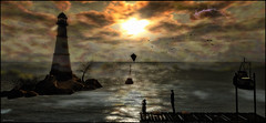 Quiet Dawn (Akim Alonzo) Tags: secondlife scene dawn quiet dock inner child