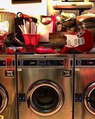 Cleaning Up (Pennan_Brae) Tags: offsetguitar offsetguitars electricguitars electricguitar guitars guitar fenderguitars fenderguitar fendermustang fender washingmachine laundromat laundry